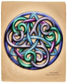 Celtic Grace Knotwork - Pagan Wiccan Print - Brigid Ashwood. $15.00, via Etsy.