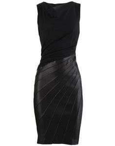Black Leather Dress Twist