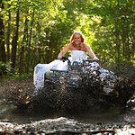 Trash the Dress Session, Mudding on the four wheeler. I will have a picture something like this!
