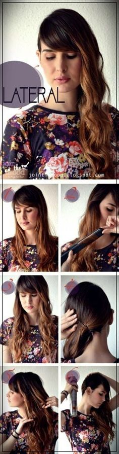 41 DIY Cool Easy Hairstyles That Real People Can Actually Do at Home! - Cool and Easy DIY Hairstyles – Side Swept Hairstyle – Quick and Easy Ideas for Back to School S - Cool Easy Hairstyles, 5 Minute Hairstyles, Side Swept Hairstyles, Step By Step Hairstyles, Braided Hairstyles, Hairstyle Ideas, Wedding Hairstyles, Elegant Hairstyles, Fringes