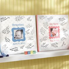 Baby Signature Canvas - 11 x 11 For visitors in the hospital and first few weeks?