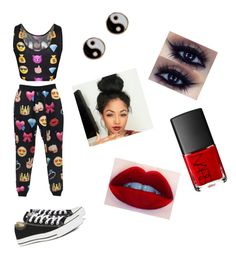 """""""Emoji time"""" by elancc ❤ liked on Polyvore featuring beauty, Converse, Accessorize and NARS Cosmetics"""