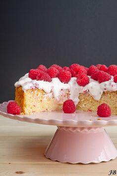 Carolines blog: Citroen-ricottacake met frambozenroom