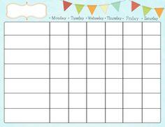 Free Printable Chore Charts | Kiddo Shelter