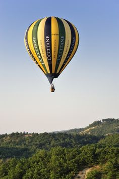 Soar above the earth with L'OCCITANE, in our very own hot air balloon!  #loccitane #provence