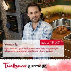 Uğur Volkan uysal ile mutfakta kısa sürede harikalar yaratmaya hazır olun!  Yemek İşi, hafta içi her gün 15.30'da Turkmax Gurme'de! Yemek İşi'ni ister internete bağlanabilen Digiturk'ünle istersen web'den, cepten ve tabletten izleyebilirsin. Hemen izlemek için tıkla: http://dgtrk.lu/5l86 Dilediğin Yerde uygulamasını cep telefonuna ya da tabletine indirmek için linklerimiz, iOS: http://dgtrk.lu/49l7 Android: http://dgtrk.lu/1nyo