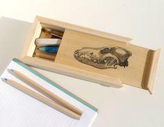 Wood pencil box, wood pencil holder, school supplies, back to school, pencil case
