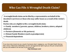 """Those who may suffer losses as a reult of victim;s death can file a wrongful #death #claim. For successful claim, contact New #Jersey wrongful death lawyer """" Dan T.Matrafajlo."""