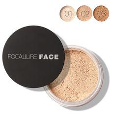 Women Natural Skin Smooth Loose Face Powder Makeup Concealer Foundation Loose Finish Powder