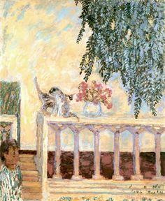 Pierre Bonnard (Francia, 1867-1947). Cats on the Railing, 1909