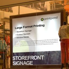 In-store Signage and Indoor Vinyl Printing Storefront Signage, Store Signage, Large Format Printing, Outdoor Banners, Window Decals, Marketing Materials, Letterhead, Printed Materials, Store Fronts