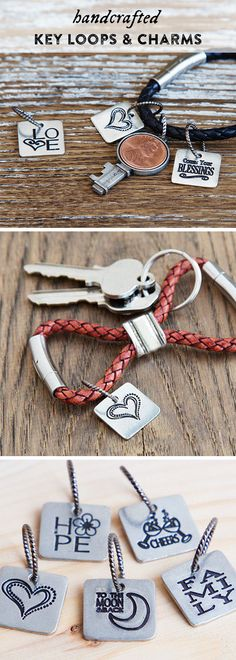 These inspirational charms for keychains, necklaces, or bracelets are meant to add some positivity to your day.