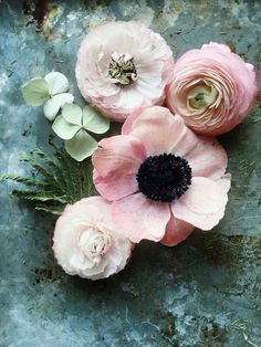 Perfect combination of flowers for a wedding bouquet or arrangement.