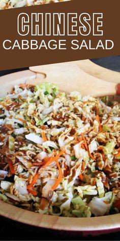 Cabbage Salad Recipes, Side Salad Recipes, Veggie Recipes, Asian Recipes, Vegetarian Recipes, Ethnic Recipes, Ramen Noodle Salad, Ramen Noodles, Chinese Cabbage Salad