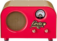 """Fender's new Greta amp.  4"""" speaker and using a 12AT7 preamp tube as it's poweramp tube.  Cool."""