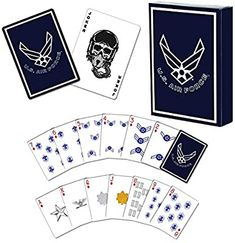 Amazon.com: USAF Professional Quality Air Force Playing Cards: Toys & Games Joker Card, Rotc, Fun Board Games, Military Gifts, Deck Of Cards, Card Games, Air Force, Playing Cards, Amazon