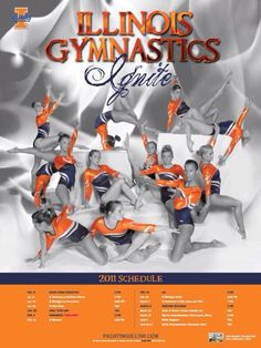 Illinois 2011 Gymnastics Posters, Body Movement, Female Gymnast, Iowa, Illinois, Minnesota, University, Poses, Photography