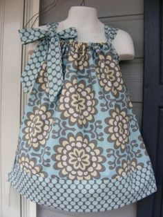 Amy Butler Print & Pillow Case Pattern Dress by angie