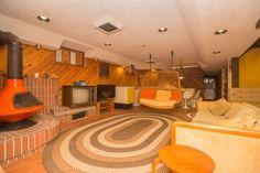 Basement rec room, Home, Grant Park Neighborhood, Winnipeg, Manitoba, Canada, built 1960s