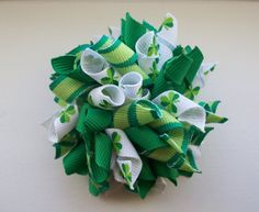 St. Patrick's Day korker hair bow