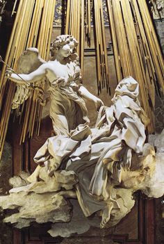 "Gian Lorenzo Bernini's ""Ecstacy of St. Theresa, 1645-1652, marble. Thanks Teddy!"
