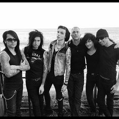Andy in a beanie, Jake being sexy, Ash's sass, Jinxx brig short, and CC smiling. Be still my heart <3