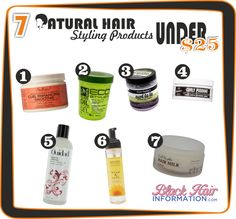 7 Brilliant Natural Hair Styling Products Under $25  http://www.blackhairinformation.com/natural-hair/7-brilliant-natural-hair-styling-products-under-25/