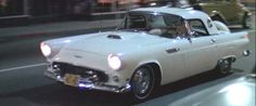 """1956 Ford T-Bird driven by """"mystery girl"""" Suzanne Sommers in American Graffiti, 1973."""