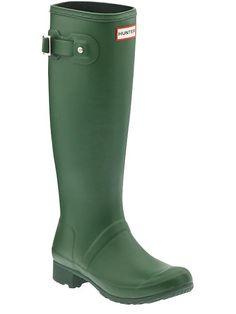 Hunter Original Rainboots in Green