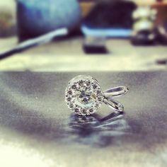 Pendant #jewelrydesign #jewelerbench #jewelry #diamonds #whitegold