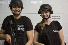 Actors Samy Osman and Kiriana Stanton in Tactical Performing Artist course with Tactics on Set