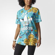 Women's adidas Originals Artist Tee | http://www.adidas.co.uk/artist-tee/AO2982.html | The Artist Tee brings the imagination of hip-hop singer and producer PHARRELL WILLIAMS to an everyday basic. Built in comfortable single jersey with a slim fit, this t-shirt features hand-drawn art by Pharrell that urges you to awaken your senses. ♥♥♥