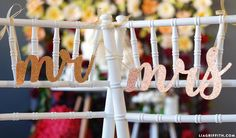 Simple Wedding Chair Signs