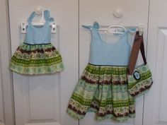Joanna dress and matching Bittie Baby dress from the Itty Bitty Baby dress pattern on my sewing projects board. Can't wait to see the girls wearing them!