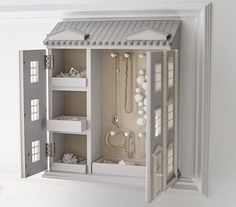 Find toy dolls that your child will love at Pottery Barn Kids. Shop dolls and dollhouses that will entertain them for hours. Pottery Barn Bedrooms, Pottery Barn Kids, Kids Furniture, Bedroom Furniture, Faux Window, Jewelry Cabinet, Teen Room Decor, Jewellery Storage, Dollhouse Furniture