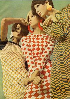 moda Pop Art Fashion ~ Mademoiselle, May 1966 Moda Vintage, Moda Retro, Vintage Mode, Retro Vintage, Vintage Girls, Pop Art Fashion, 60s And 70s Fashion, Retro Fashion, Vintage Fashion