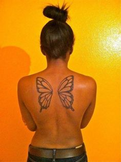 done by Jerry at Lucky Cat Tattoo in Las Vegas Nevada USA.You can find Nevada and more on our website.done by Jerry at Lucky Cat Tattoo in Las Vegas Nevada USA. Fairy Wing Tattoos, Butterfly Wing Tattoo, Wing Tattoos On Back, Girl Back Tattoos, Small Girl Tattoos, Back Tattoo Women, Mommy Tattoos, Sexy Tattoos, Unique Tattoos