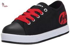 Heelys X2 Fresh, Chaussures de Tennis Garçon, Noir (Black / Red), 30 EU - Chaussures heelys (*Partner-Link)