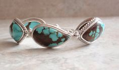 Turquoise Matrix Bracelet Sterling Silver 7 Inch by cutterstone