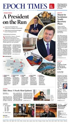 A President on the Run Epoch Times #newspaper #editorialdesign