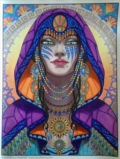 Gypsy Mystic, Magical Beauties by Cristina Mc Allister colored by @vero_scully