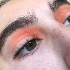 Cute Makeup, Pretty Makeup, Easy Makeup, Peachy Makeup Look, Sleek Makeup, Peach Eye Makeup, Orange Makeup, Stunning Makeup, Skin Makeup