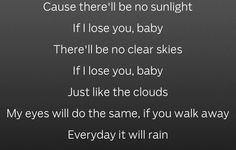 Bruno Mars lyrics to It will rain