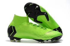new concept efe25 1791a Authentic Nike Mercurial Superfly VI 360 Elite FG Sock Soccer Cleats -  Green Black