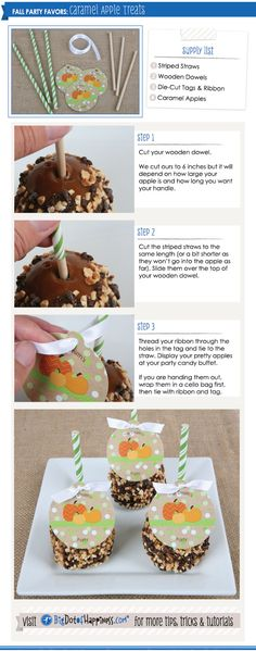 Caramel Apple Fall Party Favors: Great for a Harvest Party or Halloween Party #BigDot www.BigDotOfHappiness.com
