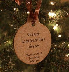 teacher idea, teacher gift, teacher ornament