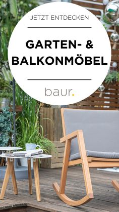 Discover furniture for balconies and gardens on baur. Balcony Furniture, Lounge Furniture, Garden Furniture, Most Beautiful Gardens, Balcony Design, Pergola Designs, Restaurant, Garden Planning, Garden Paths