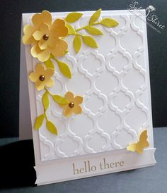 SYLVIA'S STAMPIN' PASSION : Petite Petal & Pansy punches - Modern Mosaic folder