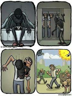 É muito triste, mas tem gente que vive assim.