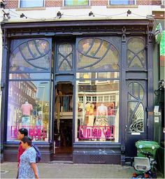 Netherlands-storefront with spectacular stained glass